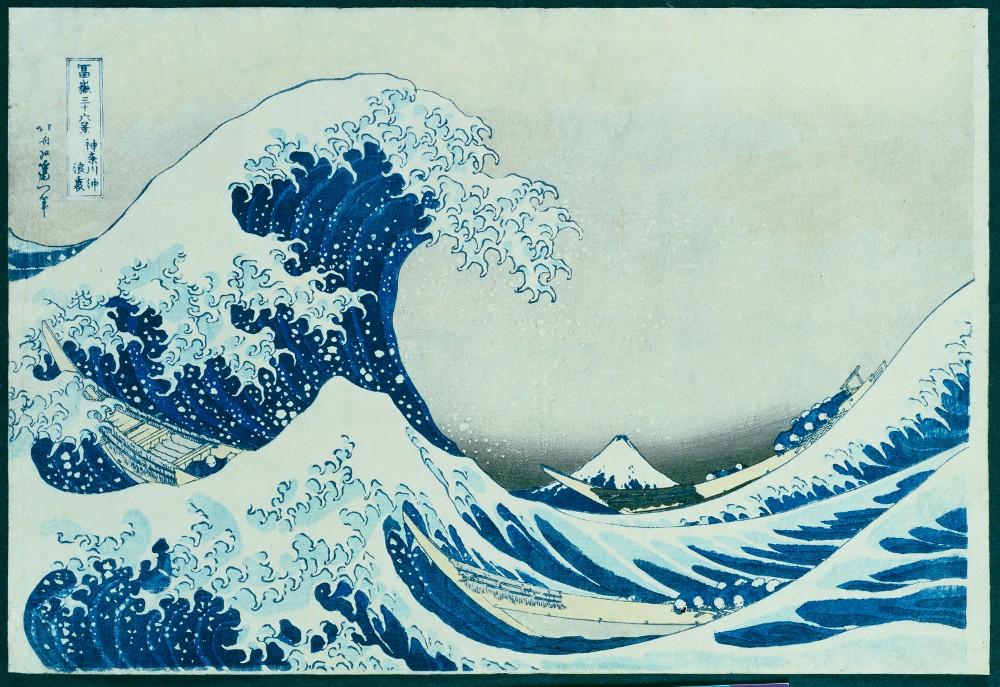 Die grosse Welle von Kanagawa. 1831